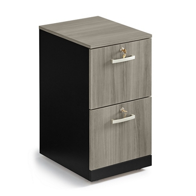 "Locking Two Drawer Mobile Vertical File - 15.5""W"