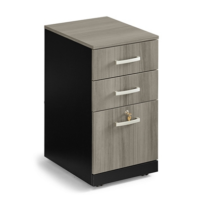 "Locking Three Drawer Mobile Vertical File - 15.55""W"