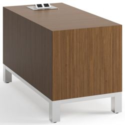"""Rectangular Modern Laminate End Table with Power - 14""""W x 28""""D"""