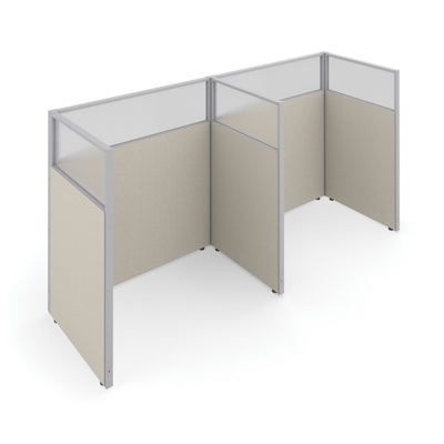 """63""""H Panels Only 1x2 Privacy Stations 60x37 Each"""