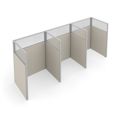 "47""H Panel Only 1x3 Privacy Stations 48""x47"" Each"