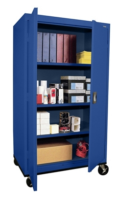 "Mobile Storage Cabinet 66"" High x 36"" Wide"