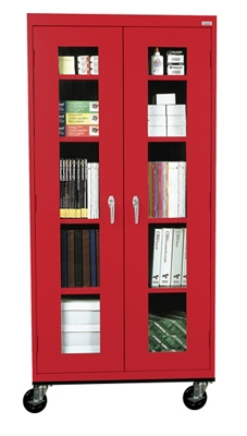 """Five Shelf Mobile Cabinet with ClearView Doors - 36""""W x 24""""D"""