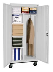 "Mobile Wardrobe and Storage Cabinet - 78""H"