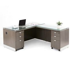 "Esquire L-Desk with Reversible Return - 66""W"
