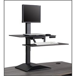 Altier Electric Single Monitor Sit/Stand Riser with Memory