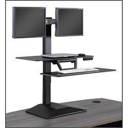 Altier Electric Dual Monitor Sit/Stand Riser with Memory