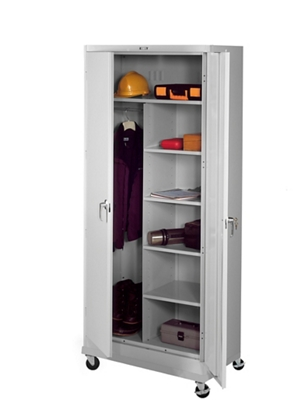 "36""W x 24""D x 85""H Mobile Combination Storage Cabinet"
