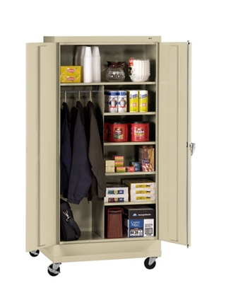 "36""W x 18""D x 79""H Mobile Combination Storage Cabinet"