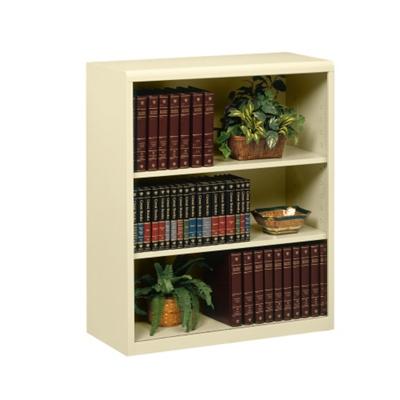 "42""H Three Shelf Metal Bookcase"