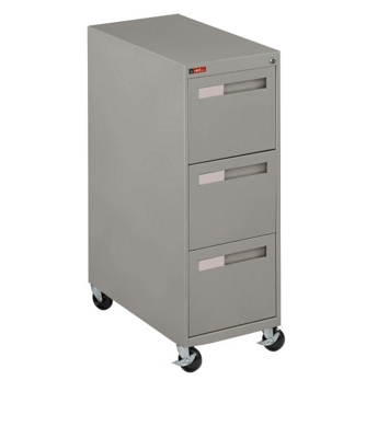 "Spectrum Three Drawer Mobile Vertical Letter File - 28.25""D"