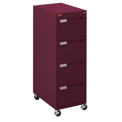 "Spectrum Four Drawer Mobile Vertical Legal File - 28.25""D"