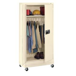 "Mobile Wardrobe Cabinet with Keypad Lock - 78.75""H"