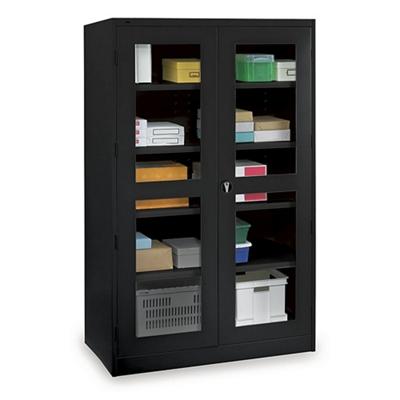 """Glass Door Storage Cabinet - 24""""D x 78""""H"""