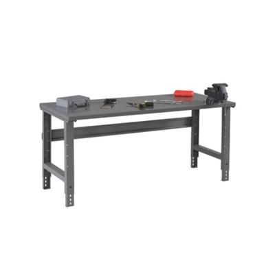 """Adjustable Height Steel Top Workbench - 72"""" x 30"""""""