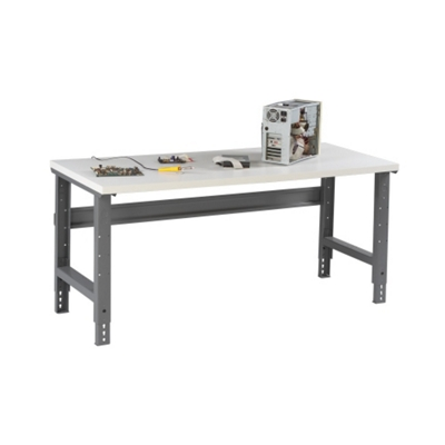 "Adjustable Height Laminate Top Workbench - 60"" x 30"""