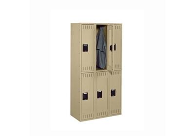 """Double Tier Locker 6 Openings - 48""""W x 18""""D x 72""""H"""