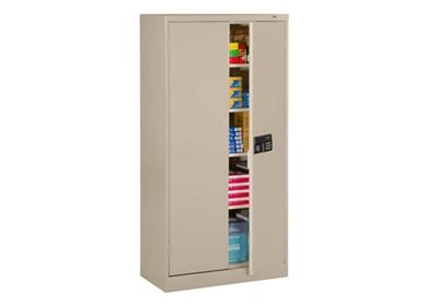"Storage Cabinet with Keypad Lock 72""H 24""D"