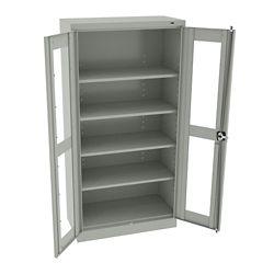 """Glass Door Storage Cabinet - 18""""D x 72""""H"""