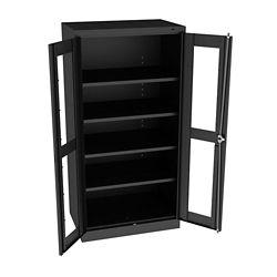 """Glass Door Storage Cabinet - 24""""D x 72""""H"""