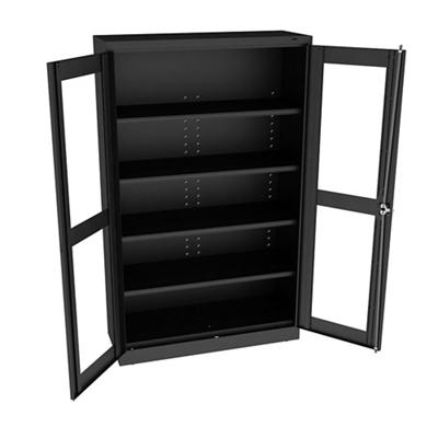 """Glass Door Storage Cabinet - 18""""D x 78""""H"""