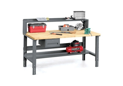 Super Workbench With Riser And Storage 36 X 72 By Tennsco Ibusinesslaw Wood Chair Design Ideas Ibusinesslaworg