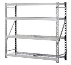 "Tread Plate Welded Four Shelf Rack 77"" W x 24"" D x 72"" H"