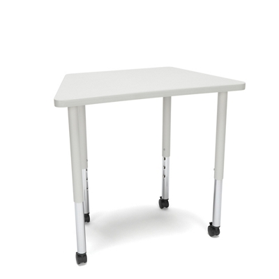 """Standard Height Mobile Trapezoid Table - 32.5""""W"""
