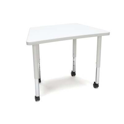 """Student Height Mobile Trapezoid Table - 32.5""""W"""