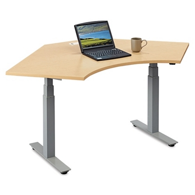 "Tabella Adjustable Height Corner Desk -  48""W"