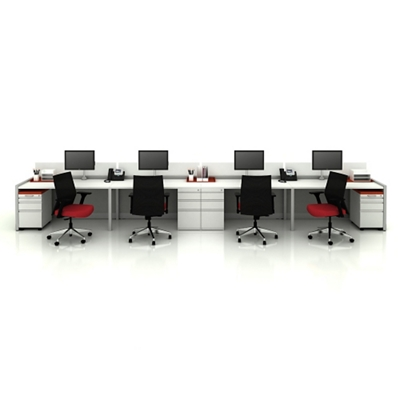 Eight Benched Workstations