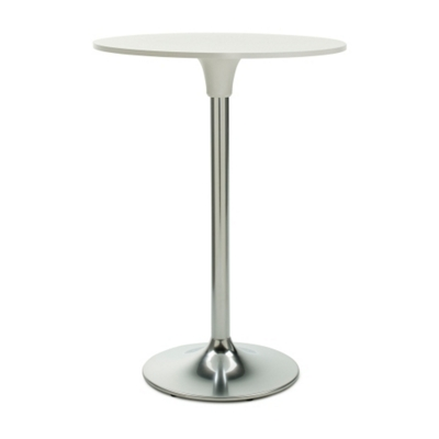 """Clear Glass Top Cafe Height Table - 30"""" Diameter"""
