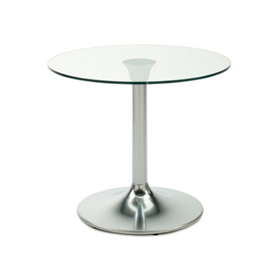 """Clear Glass Top Table - 30"""" Diameter"""