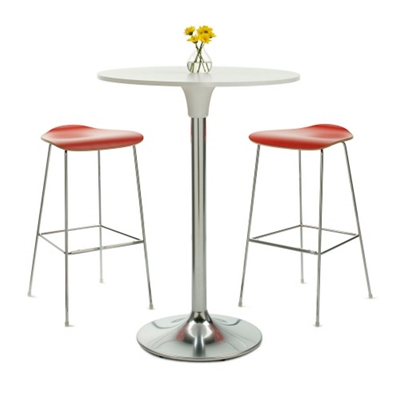 Café Table and Two Bar Stools Set