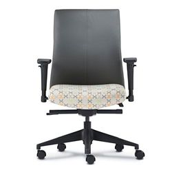 Mid Back Office Chair with Adjustable Arms