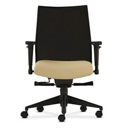 Mid Back Office Chair with Adjustable Arms and Mesh Back