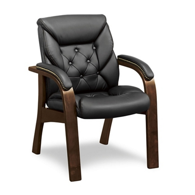 Kingston Collection Faux Leather Guest Chair