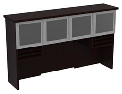 """Hutch with Glass Doors - 72""""W x 16""""D"""