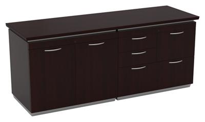 """Mixed-Drawer Storage Credenza - 72""""W x 24""""D"""
