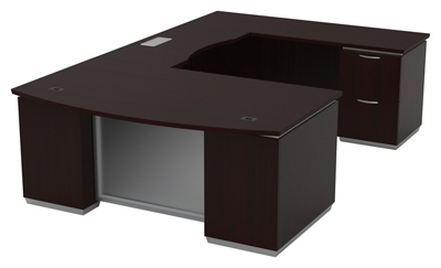 "U-Shape Desk with Right Bridge - 72""W x 114""D"