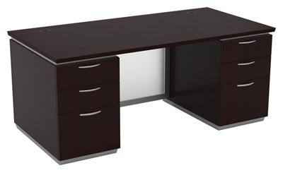 """Double-Pedestal Executive Desk - 72""""W x 36""""D"""