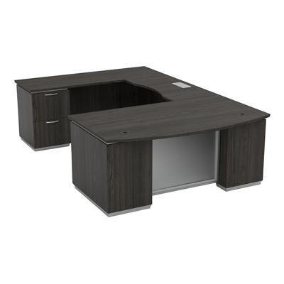 "U-Shape Desk with Left Bridge - 72""W x 114""D"