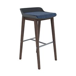 Upholstered Counter-Height Stool with PET Shell