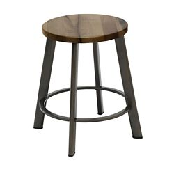 Metro Standard Height Stool with Wood Seat