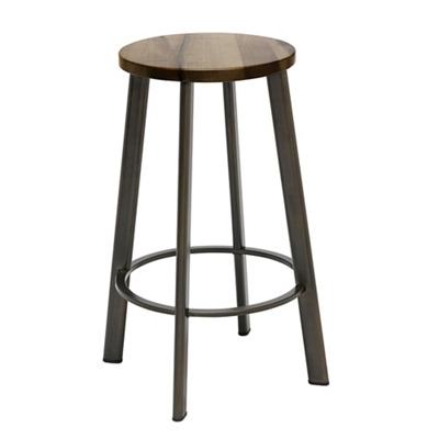 Metro Counter Height Stool with Wood Seat