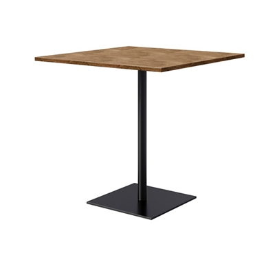 Bar Height Wood Pedestal Table With Round Base 42 W X 42 D By Kfi Nbf Com