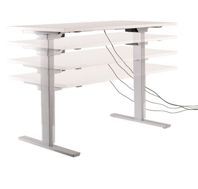 """Adjustable Height Base for 48-72""""W x 24""""D Tops"""