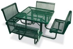 Square Perforated Outdoor Table - 46""