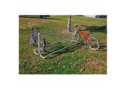 Modern 8 ft Portable Double Sided Bike Rack