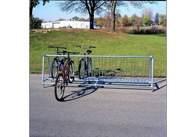 8 ft Surface Mounted Double Sided Bike Rack